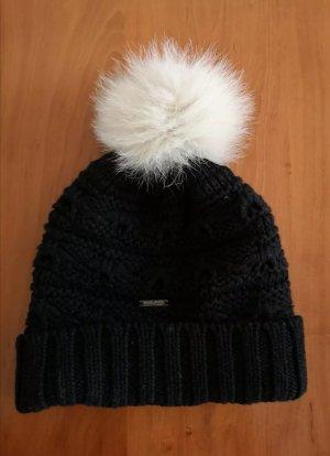 Woolrich Bonnet à pompon noir
