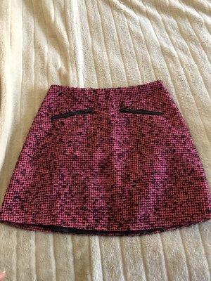 Warehouse Jupe en tweed noir-rose