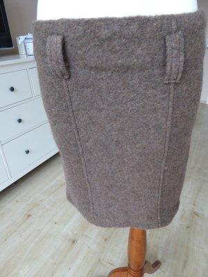 Wollrock aus Lana Gr. M braunmeliert