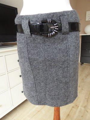 Wollrock aus Lana Gr. M graumeliert