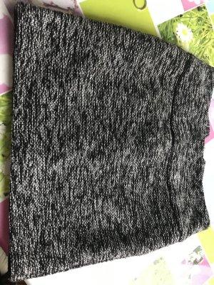 BAF Wool Skirt black-silver-colored wool
