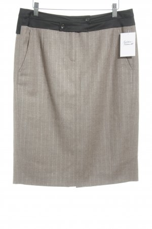 Wool Skirt brown pinstripe business style