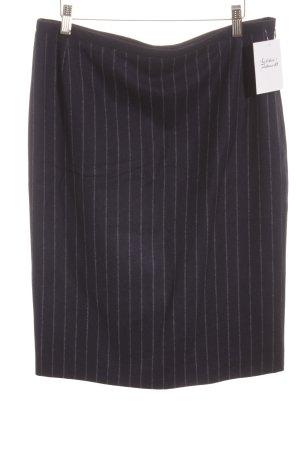 Wollen rok donkerblauw-staalblauw krijtstreep zakelijke stijl