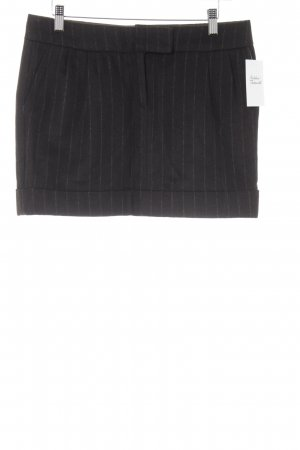 Wollen rok donkerbruin gestreept patroon klassieke stijl