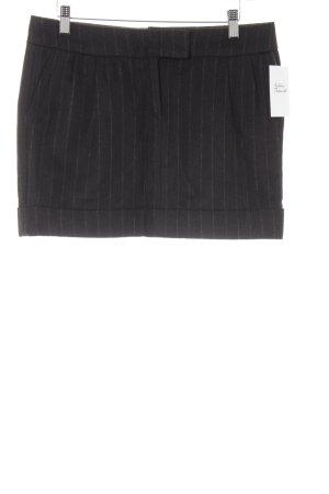 Wollrock dunkelbraun Streifenmuster klassischer Stil