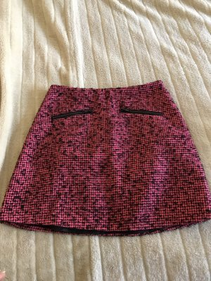 Warehouse Tweed rok zwart-roze