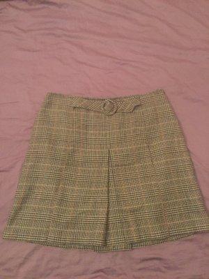 Marco Pecci Plaid Skirt grey brown-black