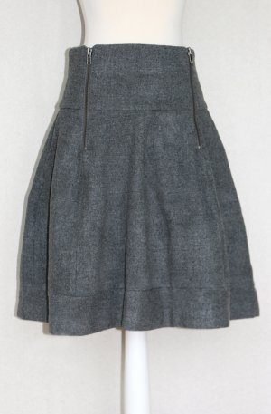 HM High Waist Skirt dark grey