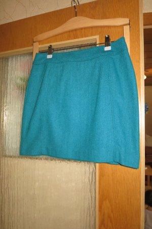 H&M Gonna di lana blu cadetto-turchese