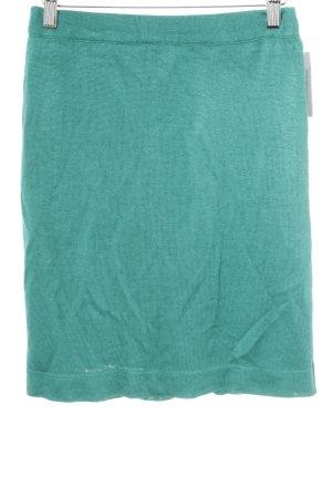 Wool Skirt cadet blue simple style