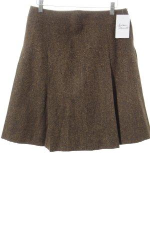 Falda de lana multicolor look casual