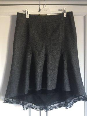 Promod Wool Skirt black-dark grey