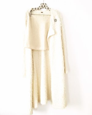 Vintage Gonna di lana crema-bianco sporco