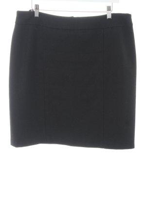 Falda de lana negro elegante