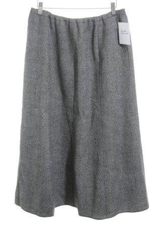 Falda de lana negro-gris claro Patrón de tejido estilo clásico