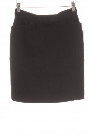 Wollen rok zwart simpele stijl