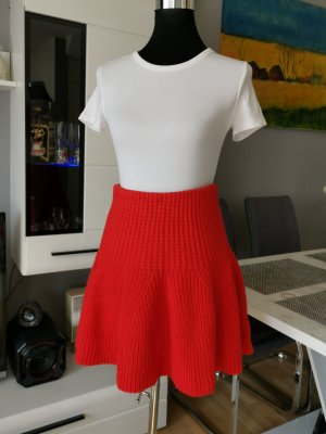 Benetton Wool Skirt red