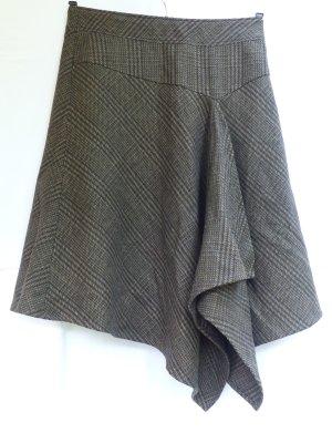 Mexx Jupe asymétrique bronze-gris brun tissu mixte