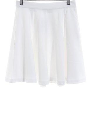 Gonna di lana bianco sporco stile semplice