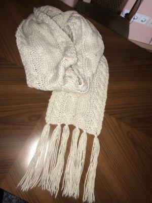 H&M Bufanda de lana blanco puro-crema