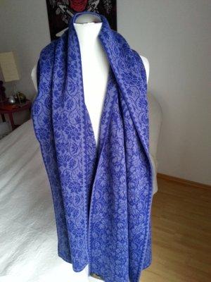 Wollschal blau/grau 170x54 cm
