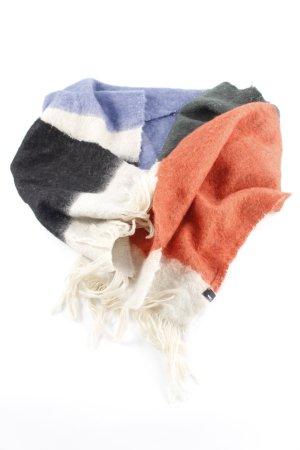 Sciarpa di lana color block stile casual