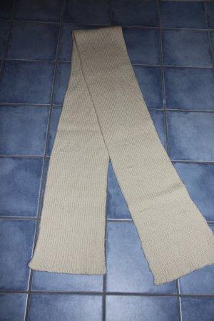 Wollschal, gestrickter Schal in beige - toll warm und schön lang