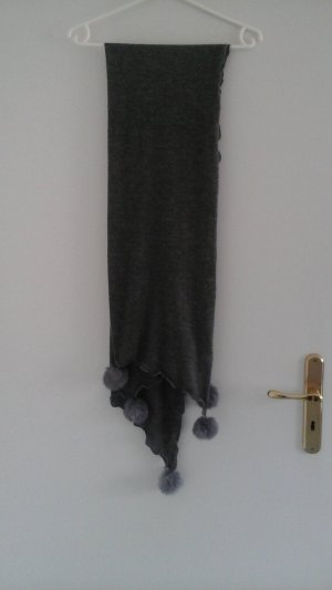 Wollen sjaal donkergrijs Acryl