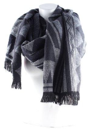 Écharpe en laine gris-noir style simple