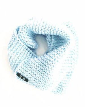 Vintage Écharpe en tricot bleu azur