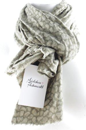 Wollschal grüngrau-khaki Punktemuster Casual-Look