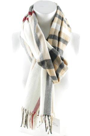 Wollen sjaal geruite print zakelijke stijl