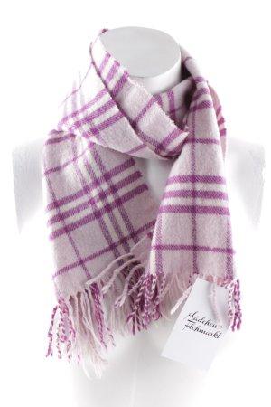 Woolen Scarf pink-purple check pattern elegant