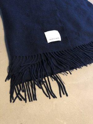 Sciarpa di lana blu scuro