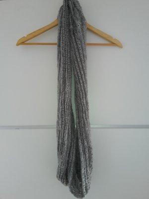 Écharpe tube gris clair-gris