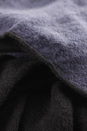 Wollschal schwarz-dunkelblau