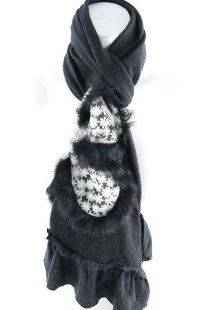 Wollschal schwarz-wollweiß extravaganter Stil