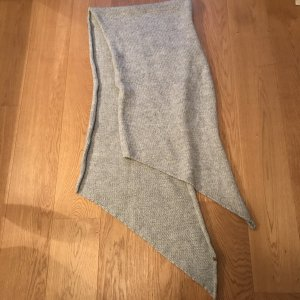 Woolen Scarf grey alpaca wool