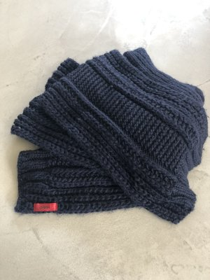 HUGO Hugo Boss Woolen Scarf dark blue