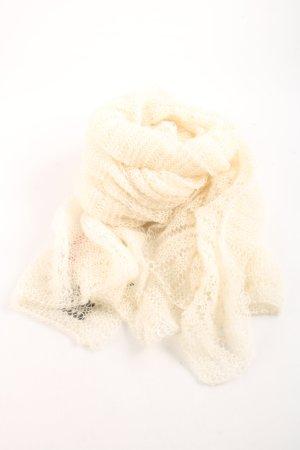 Bufanda de lana blanco puro mullido