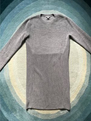 COS Woolen Dress silver-colored-grey
