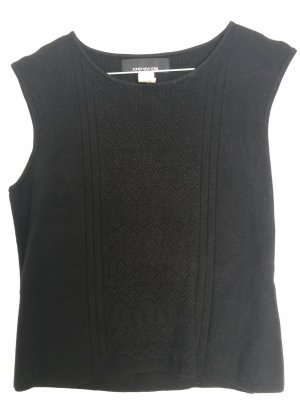 Jones New York Top de ganchillo negro
