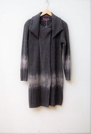 Backstage Abrigo de entretiempo gris oscuro-beige claro lana de esquila