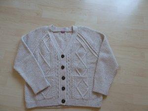 Wollweiße Grobstrickjacke Schurwolle-Alpaka von Suzanna