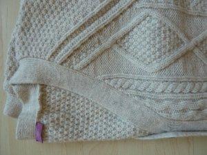 Suzanna Cárdigan de punto grueso blanco puro tejido mezclado