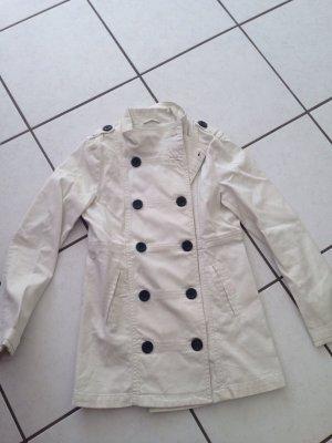 H&M Veste longue blanc cassé