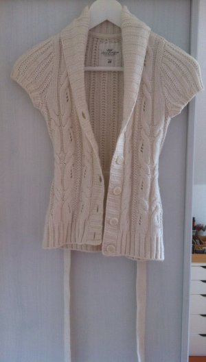 H&M L.O.G.G. Short Sleeve Knitted Jacket natural white