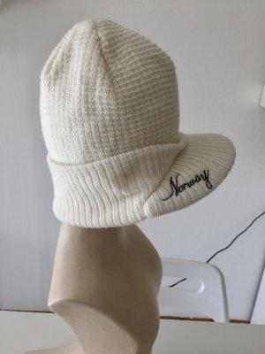 Cappello a maglia bianco sporco Acrilico