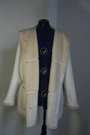 Cappotto corto bianco sporco