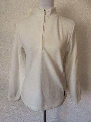 wollweißer Fleecepulli / Fleecepullover / Pulli von Amisu - wenig getragen - Gr. 38 / M